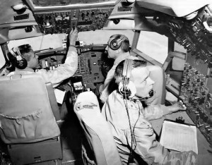 727 flight crew in cockpit